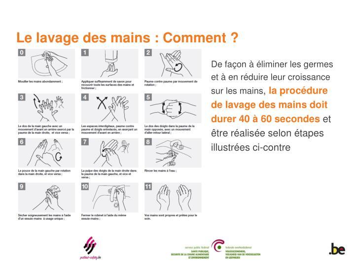 Le lavage des mains : Comment ?
