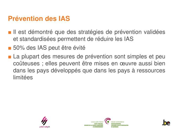 Prévention des IAS
