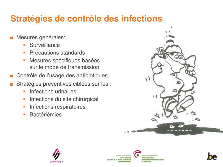 Stratégies de contrôle des infections