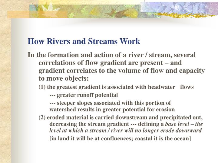 How Rivers and Streams Work