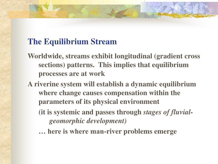 The Equilibrium Stream