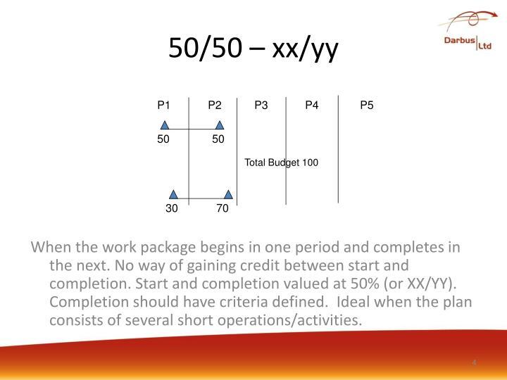 50/50 – xx/yy