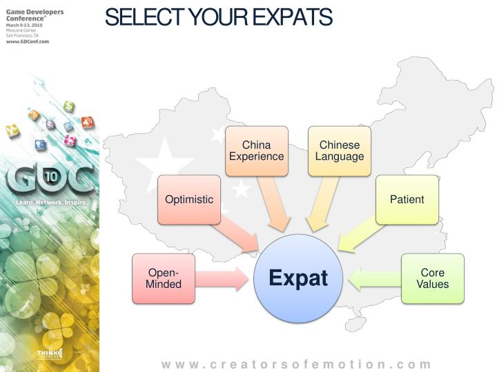 SELECT YOUR EXPATS