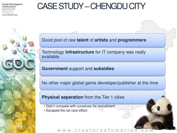 CASE STUDY – CHENGDU CITY