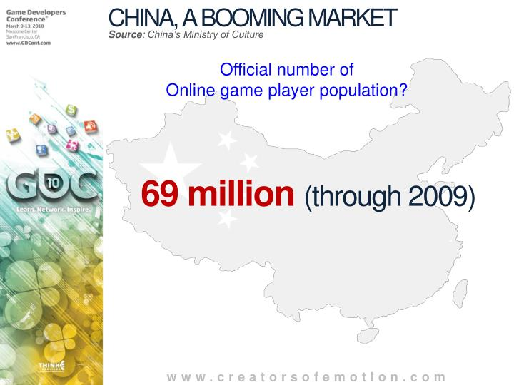 CHINA, A BOOMING MARKET
