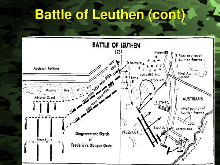 Battle of Leuthen (cont)