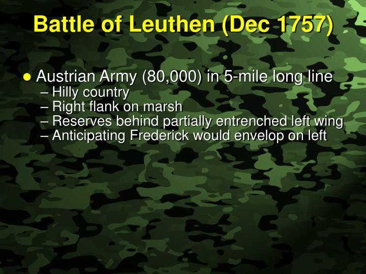 Battle of Leuthen (Dec 1757)