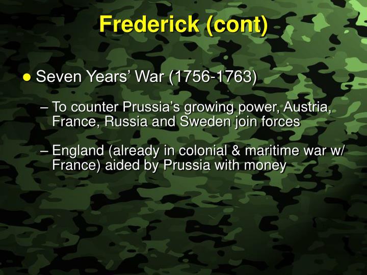 Frederick (cont)