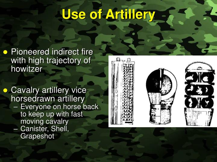 Use of Artillery