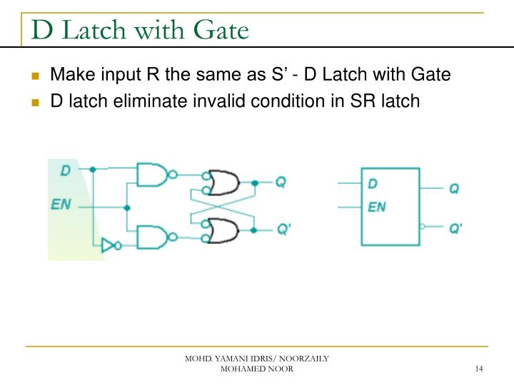 D Latch with Gate