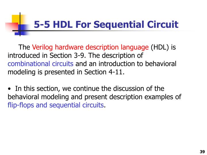 5-5 HDL For Sequential Circuit