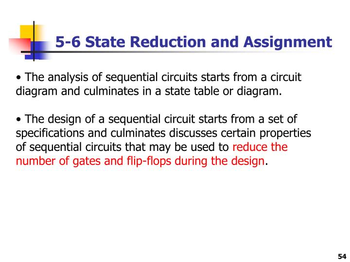 5-6 State Reduction and Assignment