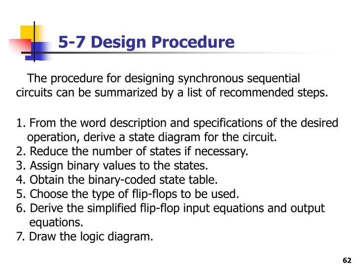 5-7 Design Procedure
