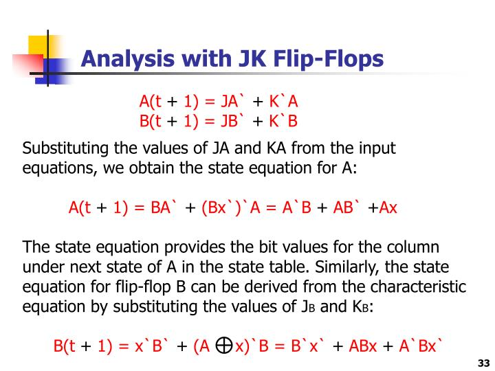Analysis with JK Flip-Flops