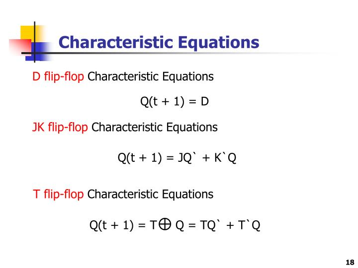 Characteristic Equations