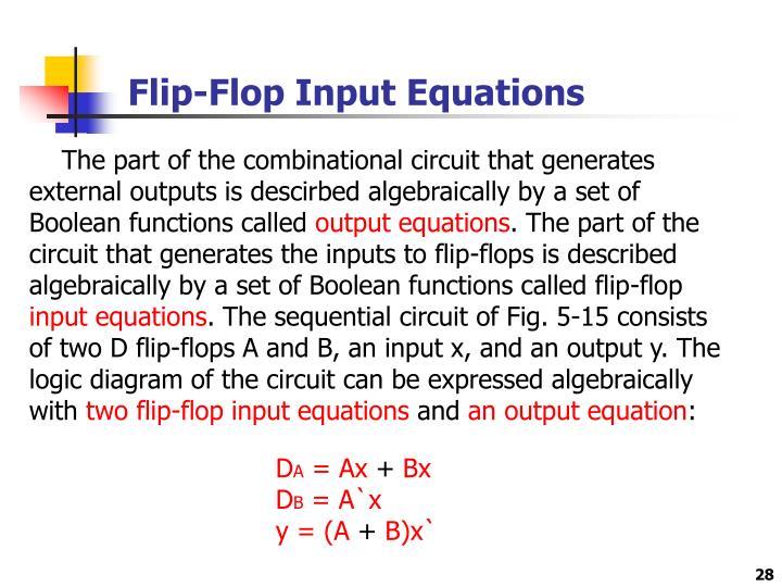 Flip-Flop Input Equations