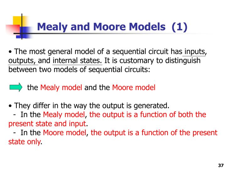 Mealy and Moore Models  (1)