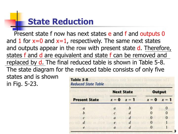 State Reduction