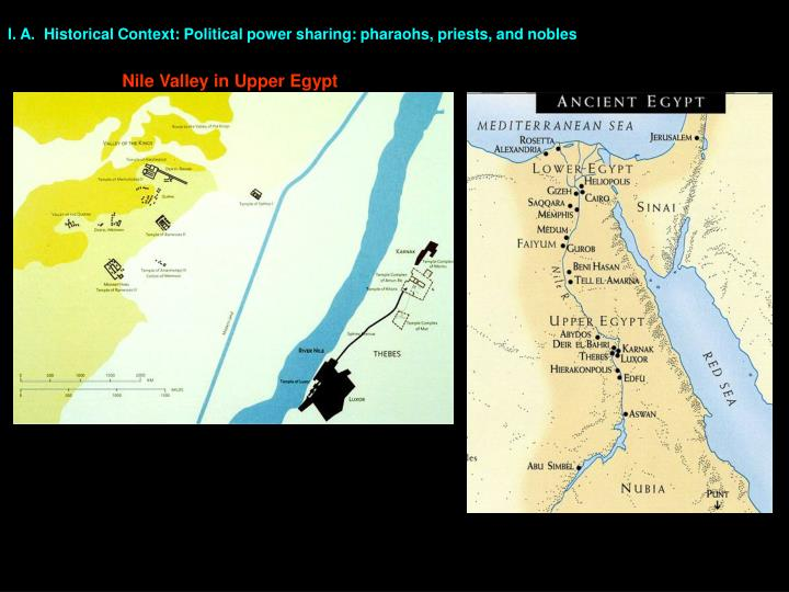 I. A.  Historical Context: Political power sharing: pharaohs, priests, and nobles