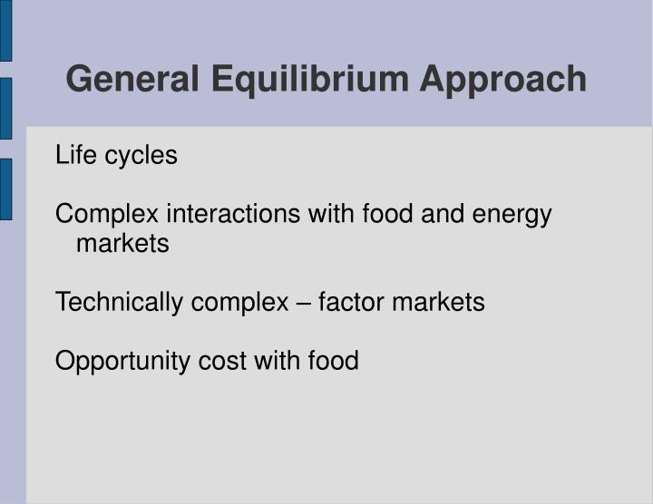 General Equilibrium Approach