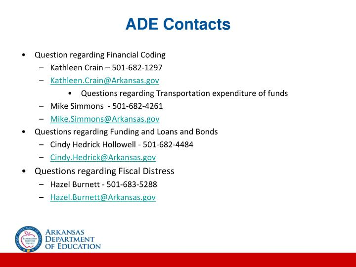 ADE Contacts