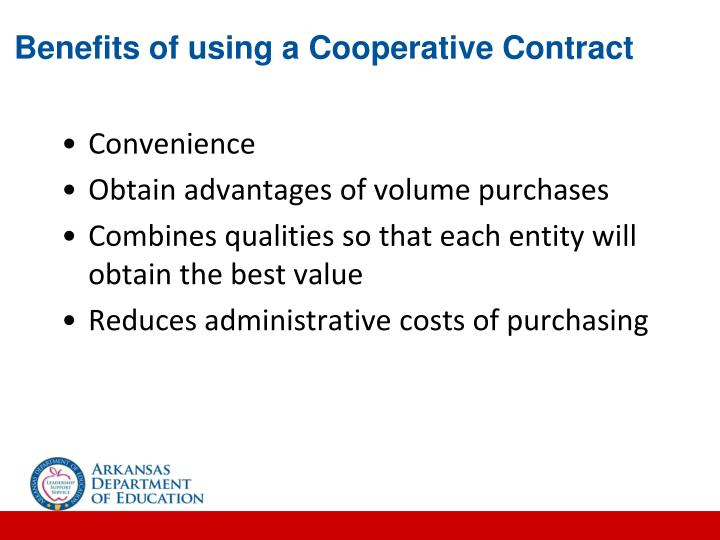Benefits of using a Cooperative