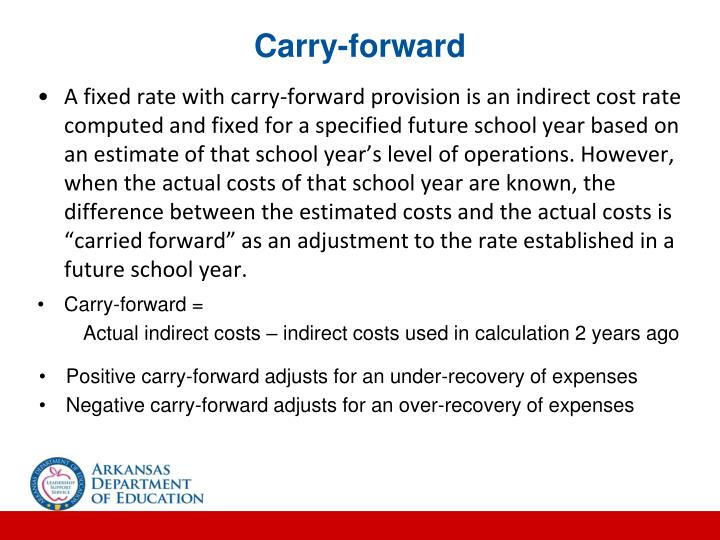 Carry-forward