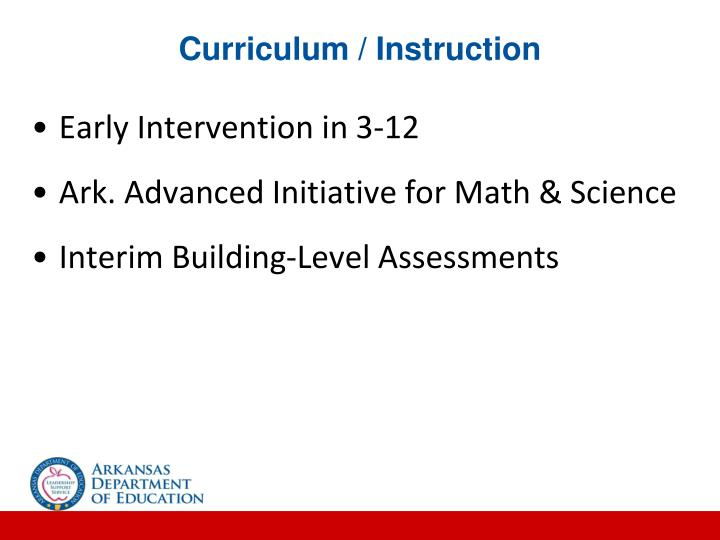 Curriculum / Instruction