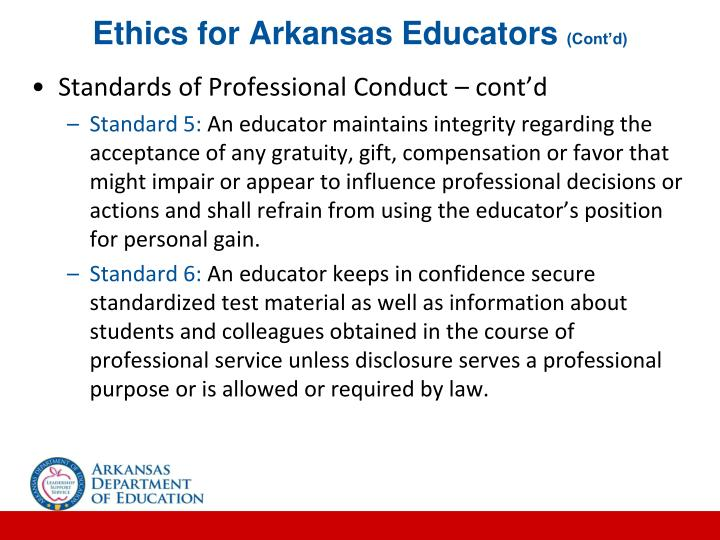 Ethics for Arkansas Educators