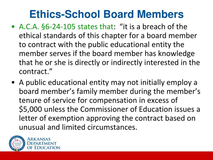 Ethics-School Board Members
