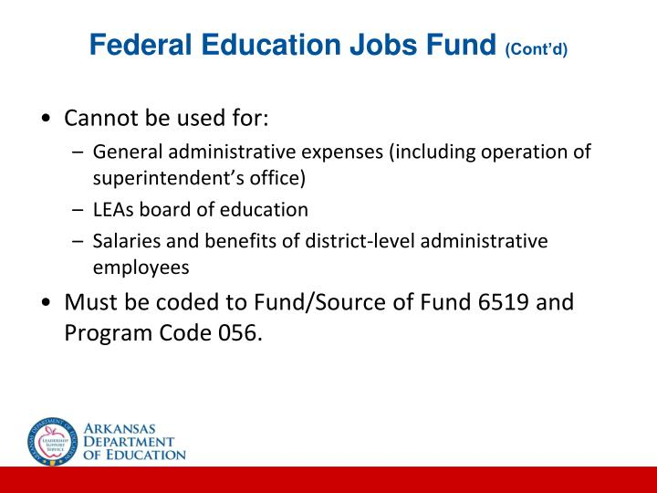 Federal Education Jobs Fund