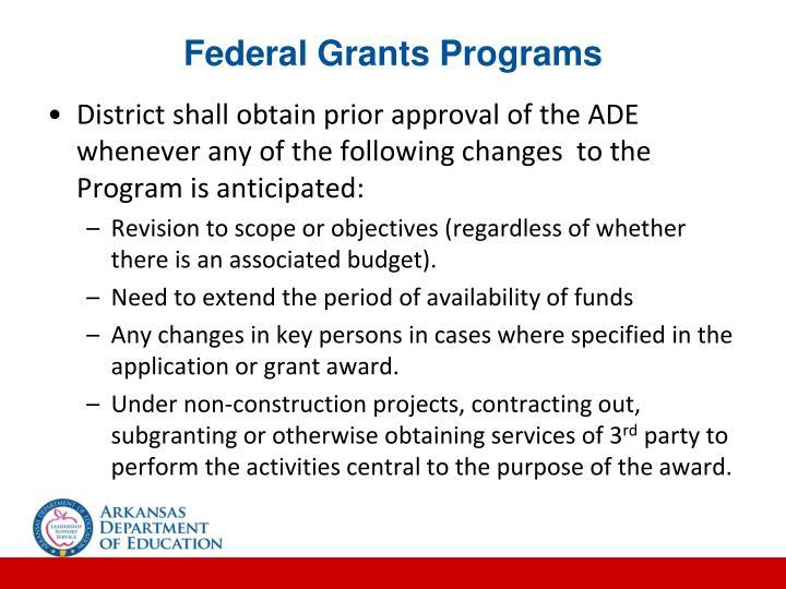 Federal Grants Programs