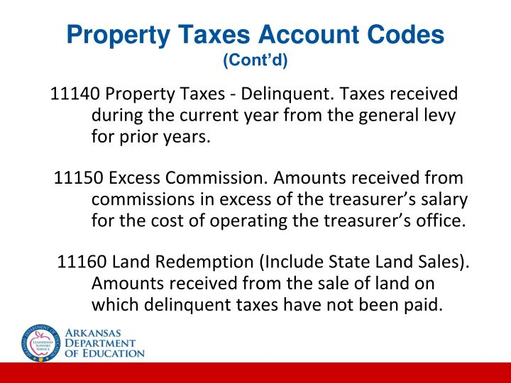 Property Taxes Account