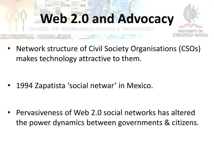 Web 2.0 and Advocacy