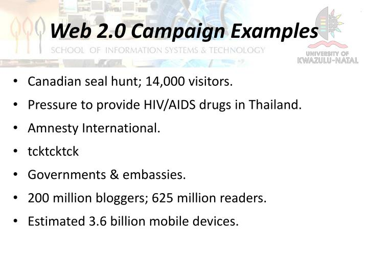 Web 2.0 Campaign Examples