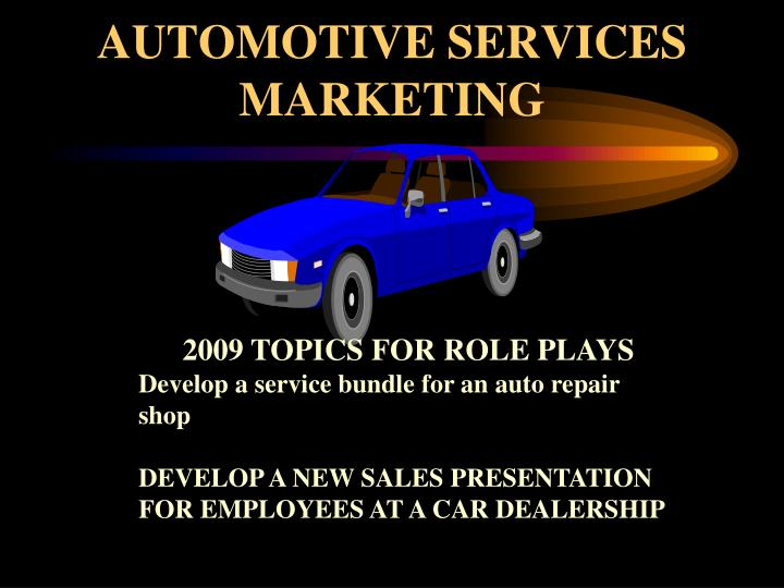 AUTOMOTIVE SERVICES MARKETING