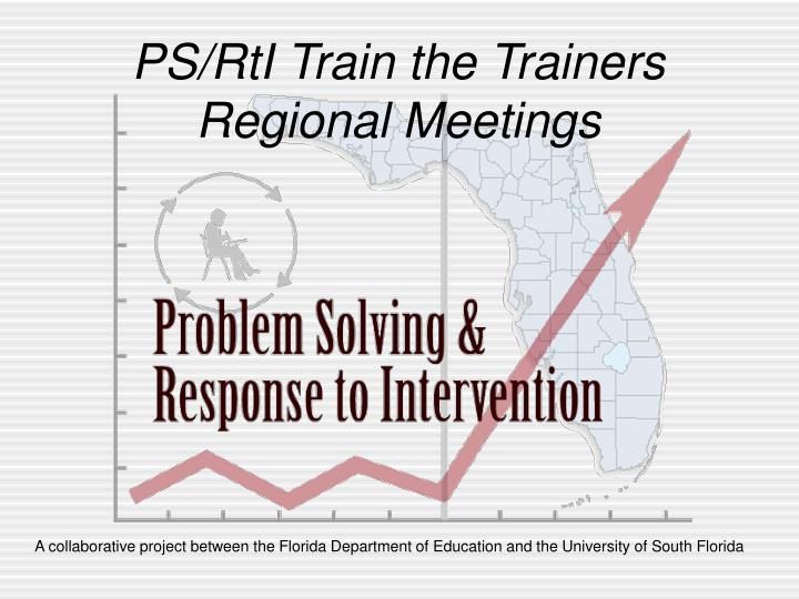 PS/RtI Train the Trainers