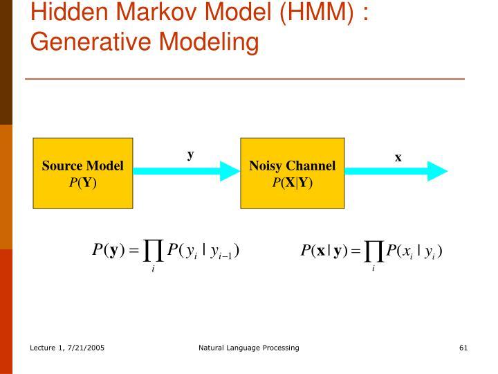 Hidden Markov Model (HMM) : Generative Modeling