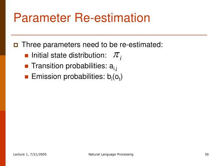 Parameter Re-estimation