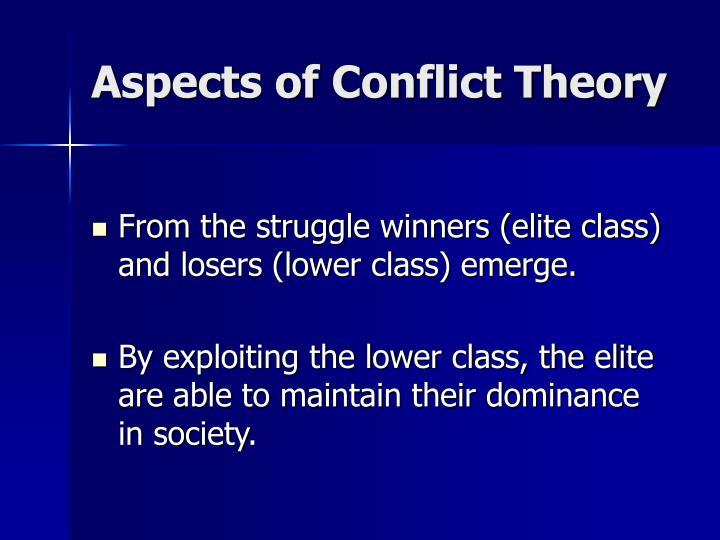 Aspects of Conflict Theory