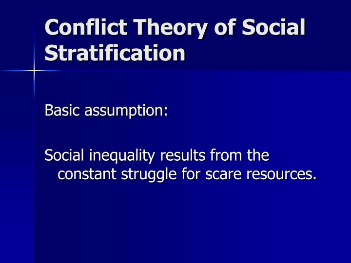Conflict Theory of Social Stratification