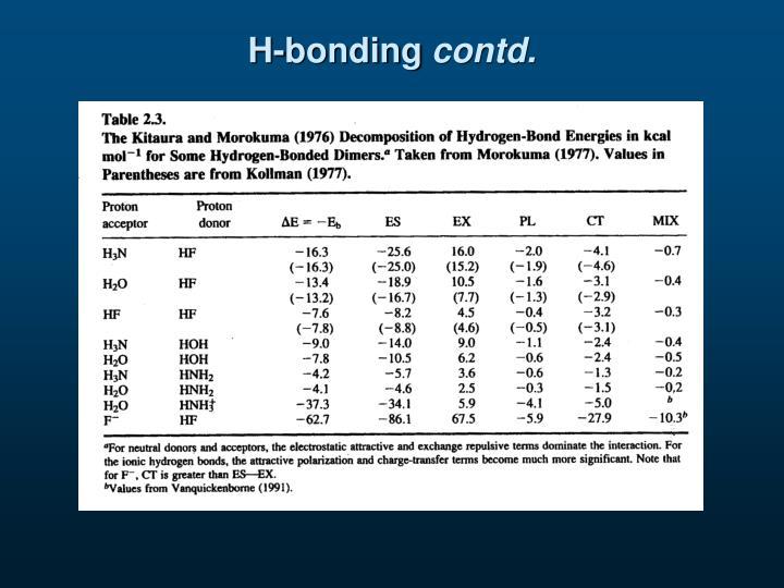 H-bonding