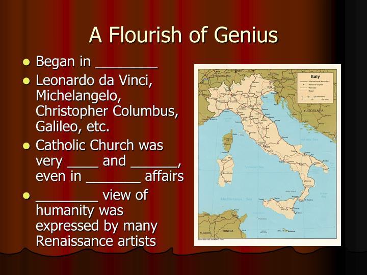 A Flourish of Genius