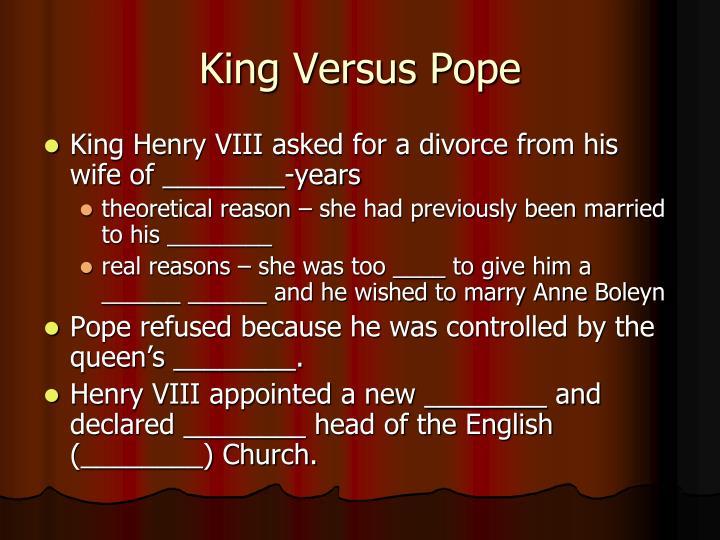 King Versus Pope