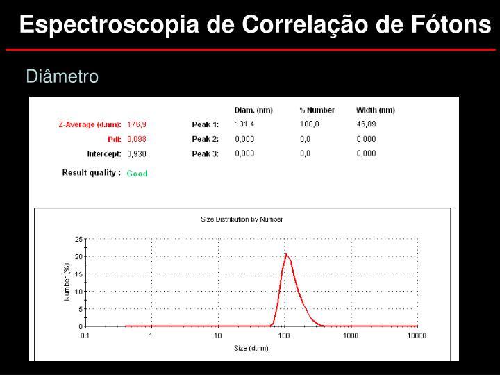 Espectroscopia de Correlação de Fótons