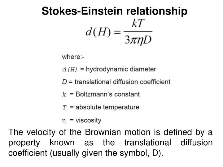 Stokes-Einstein relationship