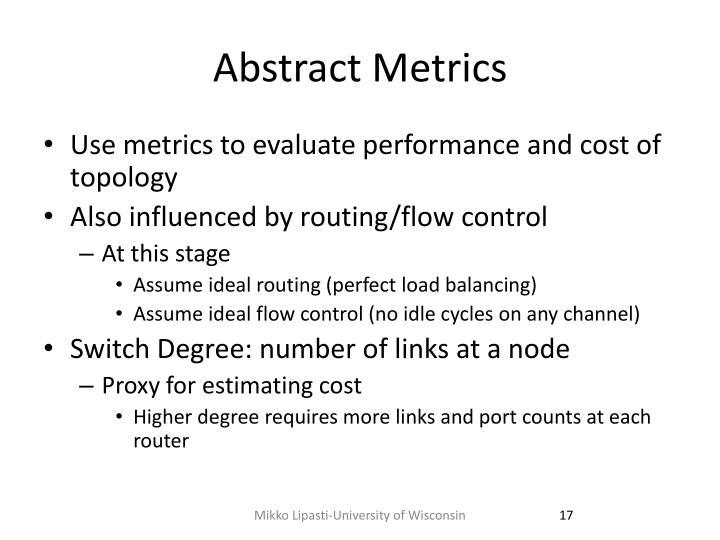 Abstract Metrics