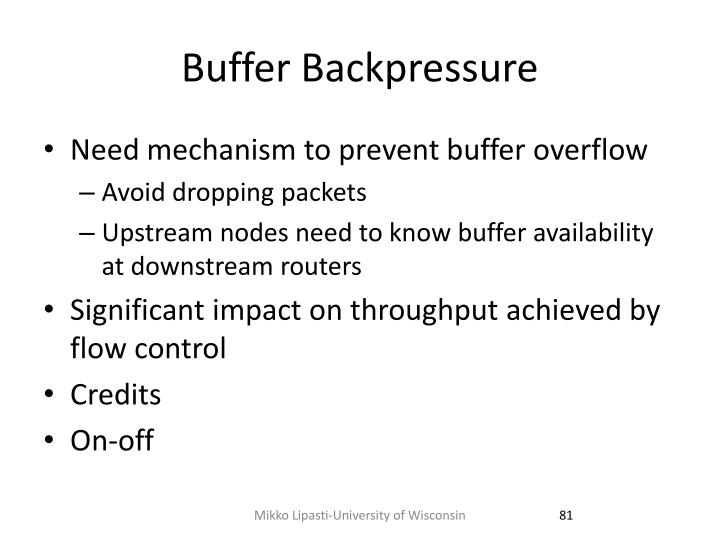 Buffer Backpressure