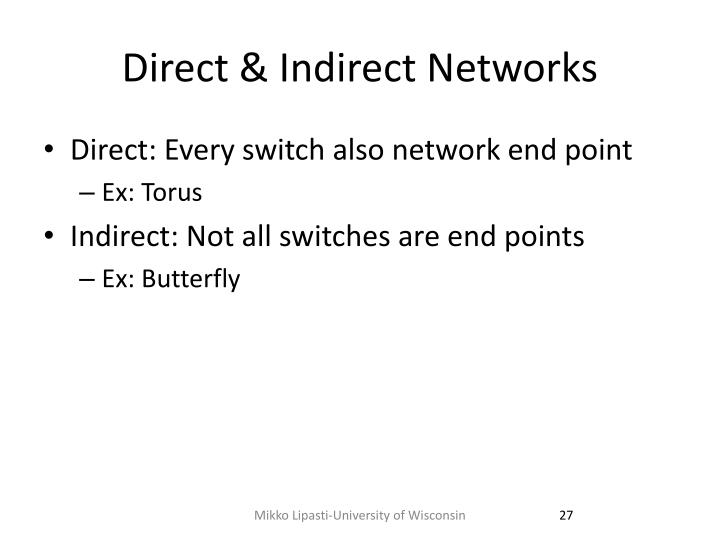 Direct & Indirect Networks