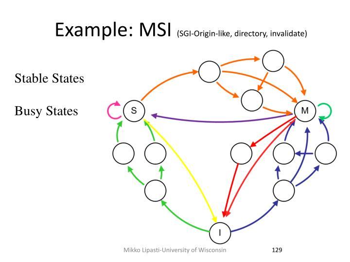 Example: MSI